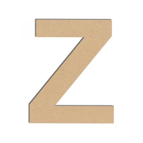 Lettre en bois médium - Z majuscule - 10 cm