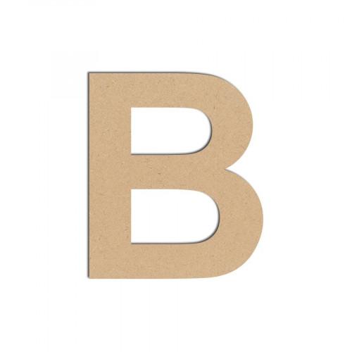 Lettre en bois médium - B majuscule - 8 cm