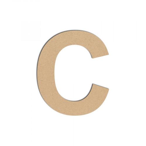Lettre en bois médium - C majuscule - 8 cm
