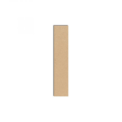 Lettre en bois médium - I majuscule - 8 cm