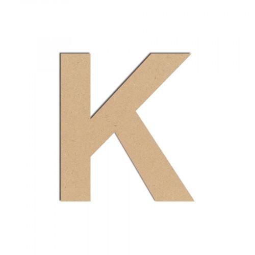 Lettre en bois médium - K majuscule - 8 cm
