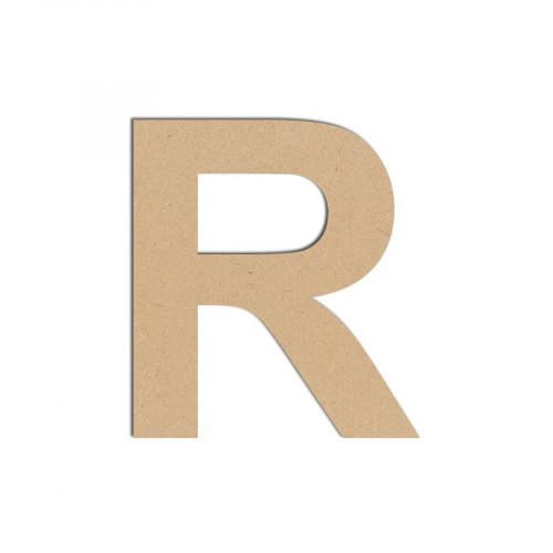Lettre en bois médium - R majuscule - 8 cm