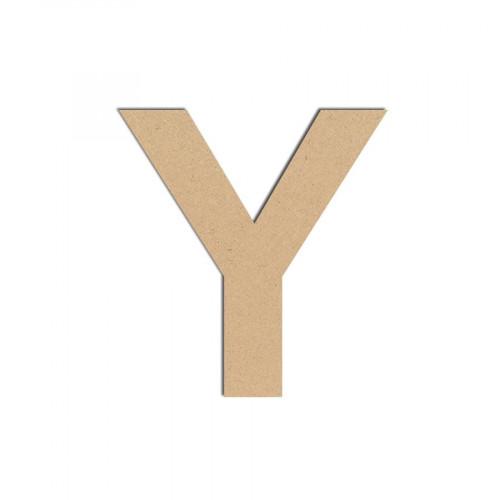 Lettre en bois médium - Y majuscule - 8 cm