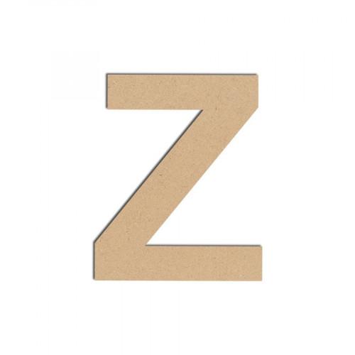 Lettre en bois médium - Z majuscule - 8 cm