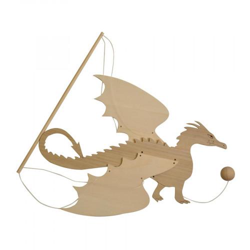 Mobile en bois à monter - Dragon - 31 x 51 cm