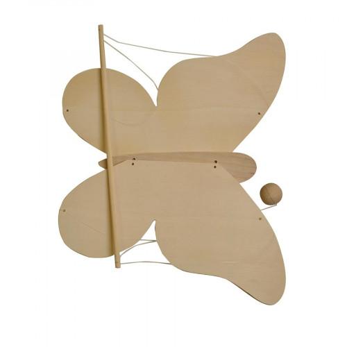 Mobile en bois à monter - Papillon - 37,5 x 43 cm