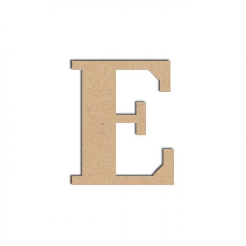 Lettre en bois médium - E majuscule - 12 cm