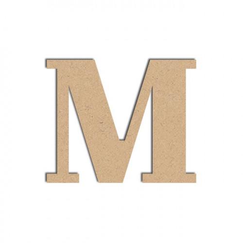 Lettre en bois médium - M majuscule - 12 cm