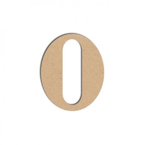 Lettre en bois médium - O majuscule - 12 cm