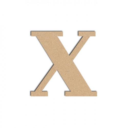 Lettre en bois médium - X majuscule - 12 cm