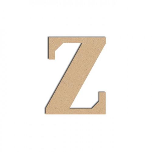 Lettre en bois médium - Z majuscule - 12 cm