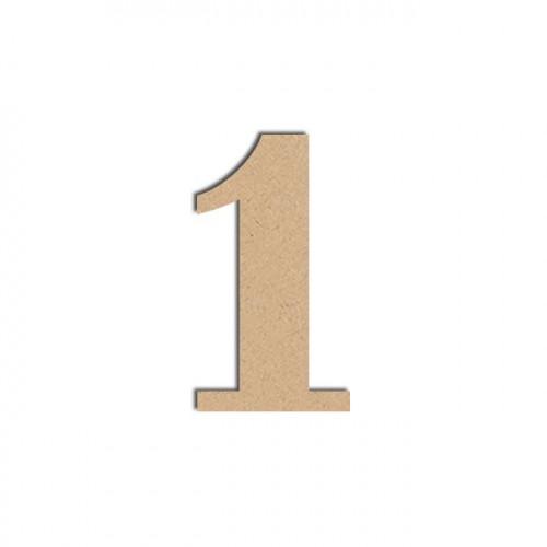 Chiffre en bois médium - 1 - 12 cm