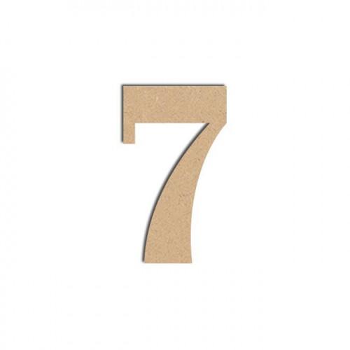 Chiffre en bois médium - 7 - 12 cm