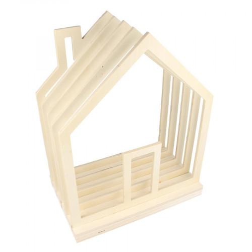 Porte-revues Maison en Bois