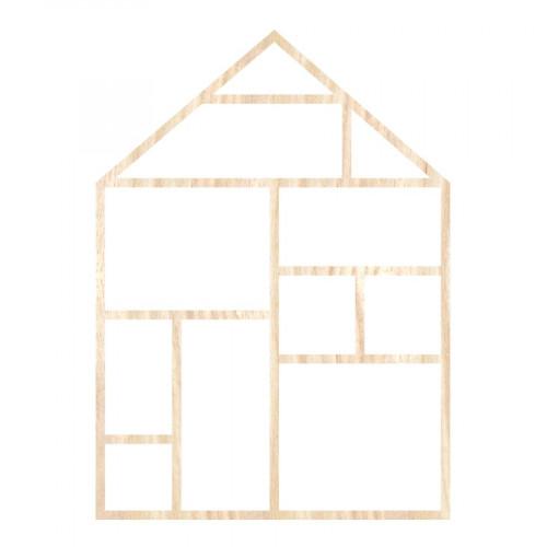 Template Maison en Bois- 19,5 x 27 cm