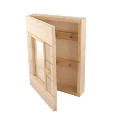 Armoire à Clefs en bois - 20 x 5 x 26 cm