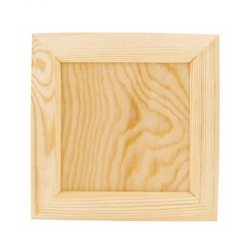 Cadre photo / Porte-serviette en bois - 21,5 x 21,5 x 2 cm