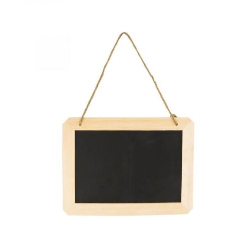 Ardoise à suspendre - rectangulaire - 25 x 15,5 x 1 cm