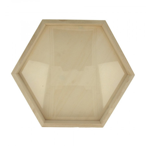 Cadre hexagonale - Bois - 30 x 26 x 3 cm
