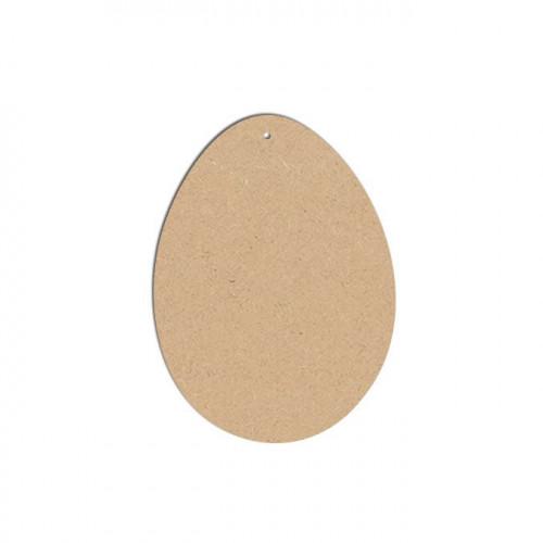 Œuf MM en bois médium - 10 x 7,5 cm