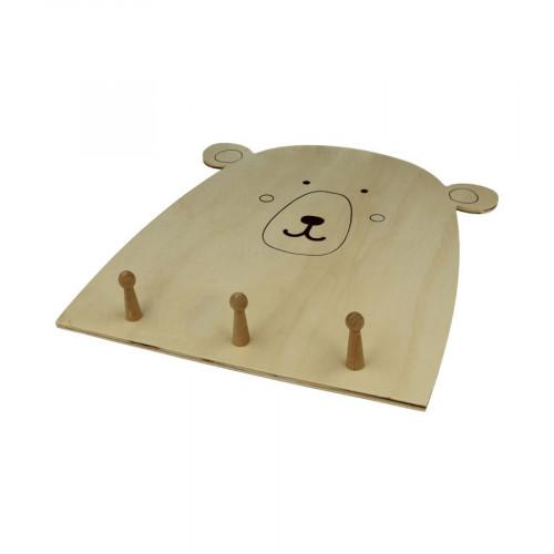 Patère en bois - Adorable - Ours - 29,5 x 25 x 4 cm