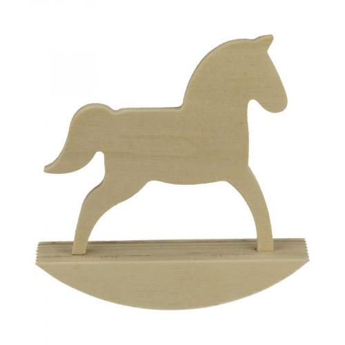 Cheval à bascule en bois - Adorable - 25 x 24,5 cm