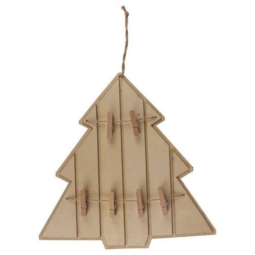 Pêle-Mêle en bois à suspendre - Sapin - 24,5 x 25 cm
