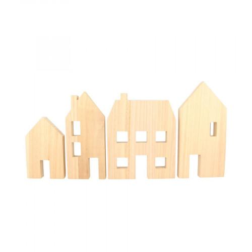 Maisons en bois - 4 pcs