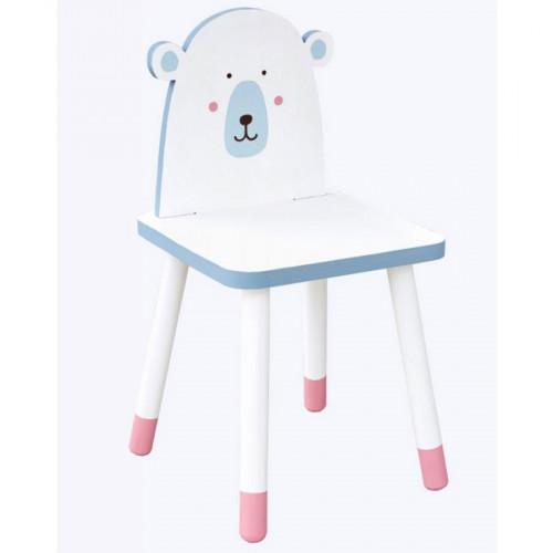 Chaise à monter en bois - Adorable - Ours - 29 x 29 x 57,5 cm