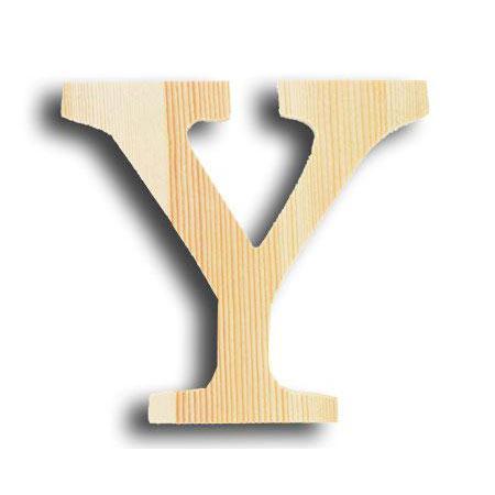 Support à décorer en bois - Lettre petit modèle - Y - 11,8 x 11,4 cm