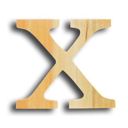 Support à décorer en bois - Lettre petit modèle - X - 12,3 x 11,6 cm