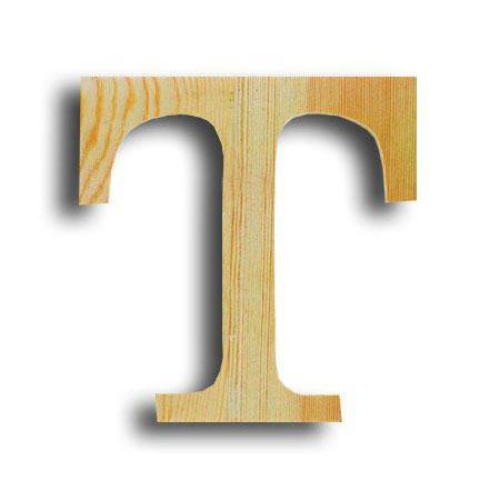 Support à décorer en bois - Lettre petit modèle - T - 11,5 x 11,5 cm