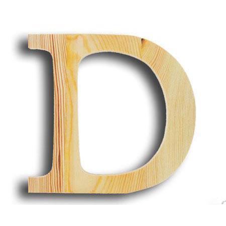 Support à décorer en bois - Lettre petit modèle - D - 11,5 x 11,5 cm