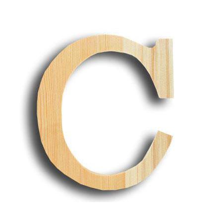 Support à décorer en bois - Lettre petit modèle - C - 10 x 12 cm