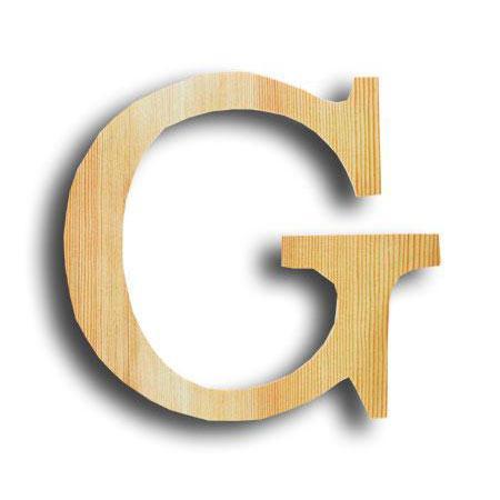 Support à décorer en bois - Lettre petit modèle - G - 12,5 x 12 cm