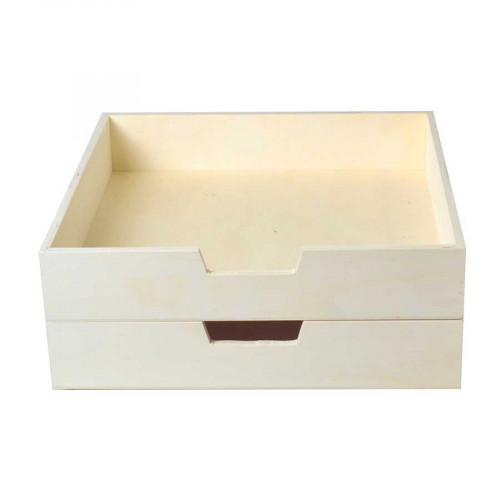 Lot de 2 bacs courrier en bois - 30 x 30 cm - 2 pcs