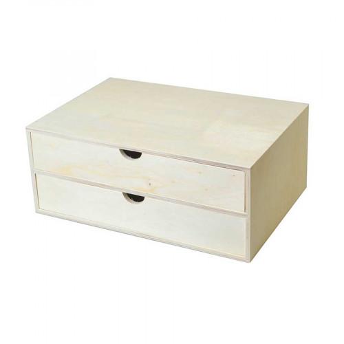 Blocs 2 tiroirs en bois - A4