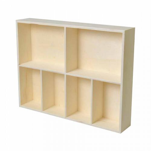 Etagère compartimentée - 40 x 30 x 7 cm