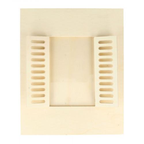 Cadre en bois Fenêtre rectangulaire - 18 x 22 cm