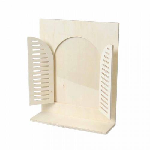 Cadre étagère Fenêtre arrondie - 27 x 33 x 9 cm