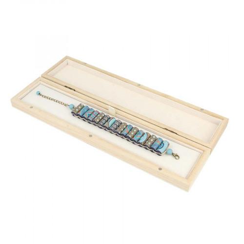 Boîte en bois pour bracelet - 29 x 6,5 x 3 cm