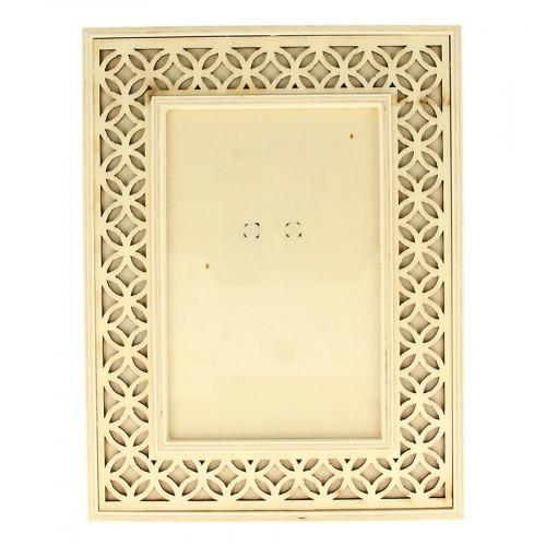 Cadre ajouré en bois Secret Garden - 16 x 21 cm