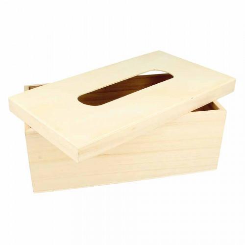 Boîte à mouchoirs en bois - 27 x 15 x 10 cm