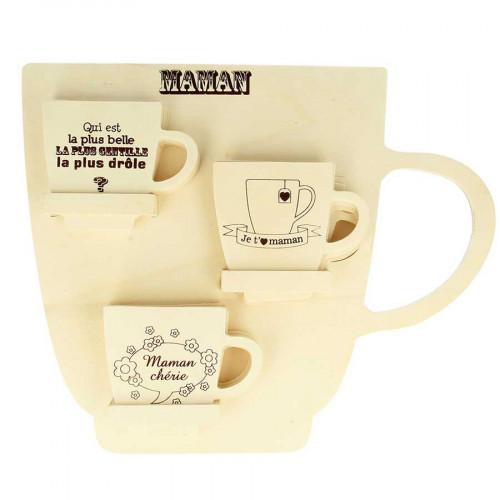 Présentoir 24 tasses Maman - 35 x 28 x 4 cm