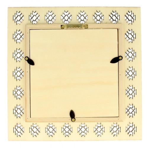 Cadre ajouré en bois Blue Ethnic - 20 x 20 cm
