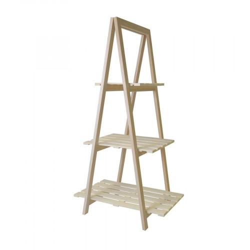 Etagères 3 niveaux en bois - 42 x 110,5 cm