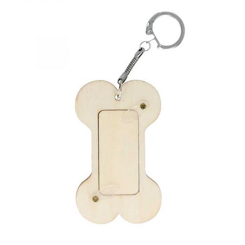 Porte-clés Os en bois - 5 x 8,3 cm