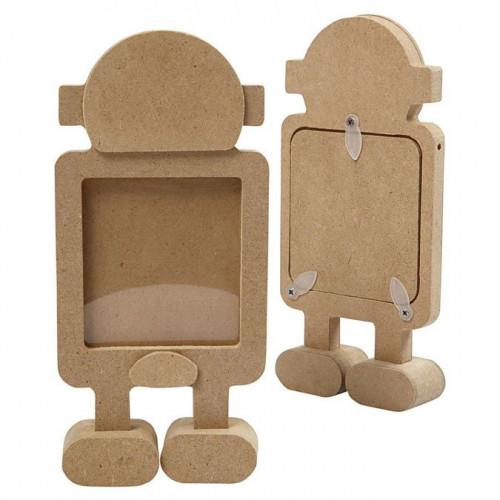 Cadre Robot en bois - 17 cm
