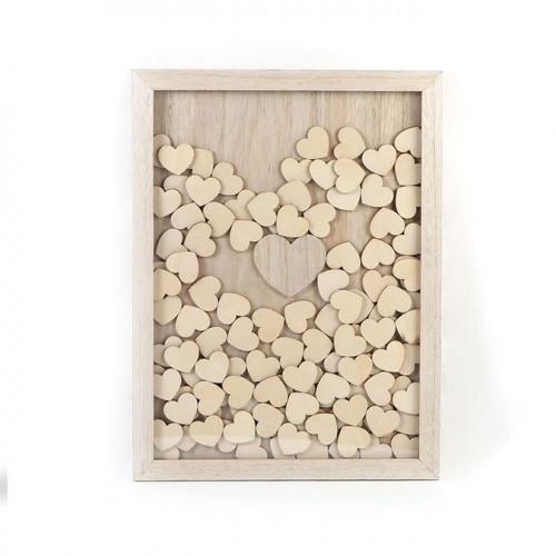 Cadre en bois 100 messages à partager - 30 x 42 cm