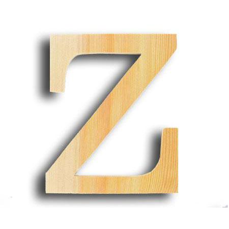 Support à décorer en bois - Lettre grand modèle - Z - 15 x 19 cm